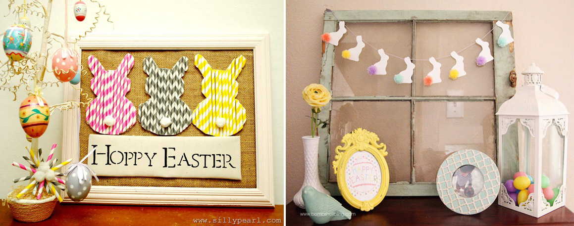 Decorar pared para Pascua
